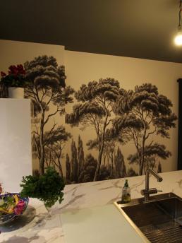 Be Chroma - pose papier peint cuisine