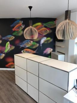 Be Chroma - Papier peint poisson Néon